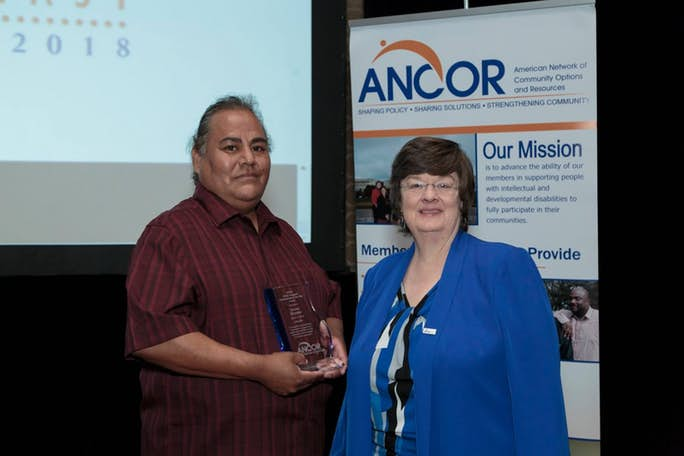 2018 DSP of the Year Leroy Bryant, with ANCOR President Angela King